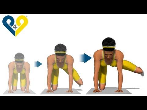 Los mejores ejercicios de glúteos: Salto lateral con rodilla doblada