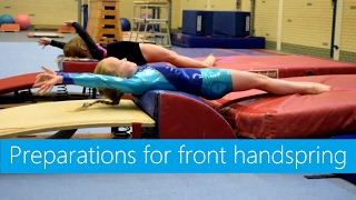 Skills & Drills: Preparations for front handspring!