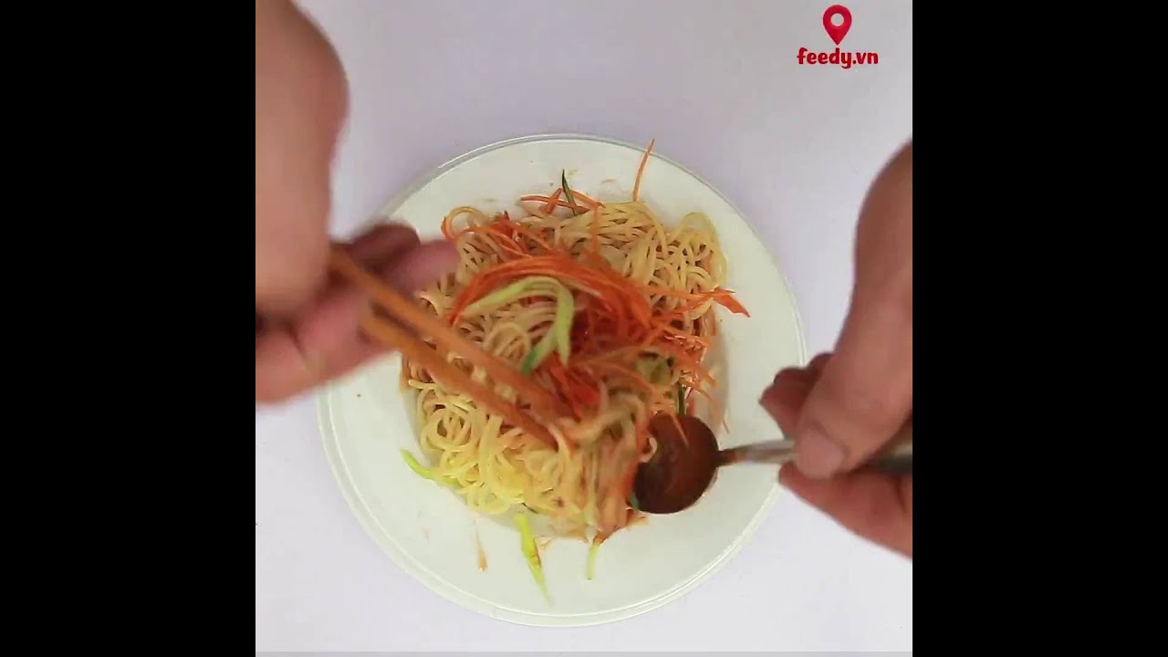 Mỳ ý trộn thịt gà – Chicken Spaghetti Mixed Vegetables