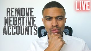 HOW TO REMOVE NEGATIVE ACCOUNTS CREDIT REPAIR || HARD INQUIRY REMOVAL