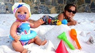 Беби Бон и Маша на море. Видео для детей