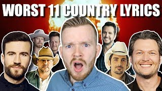 11 WORST COUNTRY LYRICS LINES! CRINGE!