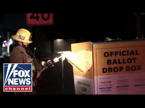 Ballot box set on fire in CA, burning up to 100 ballots