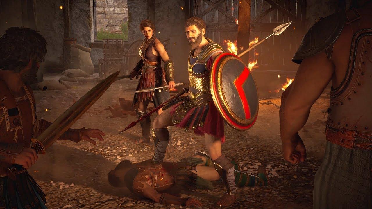 Assassin's Creed Odyssey - Epic Spartan Battle Cutscene ...