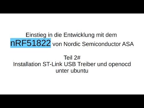 nRF51822 #2: Installation Programmer ST-Link V2 und openocd
