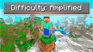 How I Beat Minecraft In An AMPLIFIED World... (luckiest game EVER)