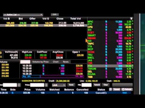 K-Cyber Trade บริการซื้อขายหลักทรัพย์และอนุพันธ์ผ่านคอมพิวเตอร์