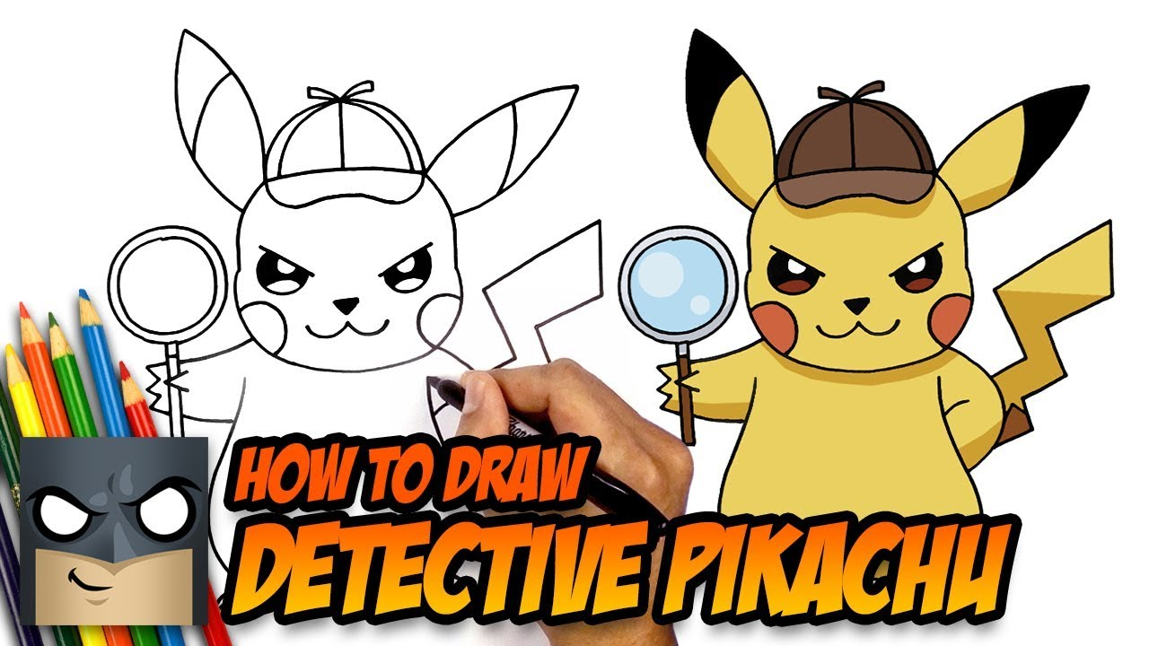 How To Draw Pokemon Detective Pikachu Step By Step Youtube