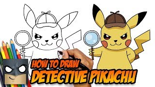 How to Draw Pokemon | Detective Pikachu | Step-by-Step