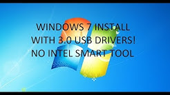 Install Windows 7 with USB 3.0 Drivers (No Intel Smart Tool!) OS Downgrade