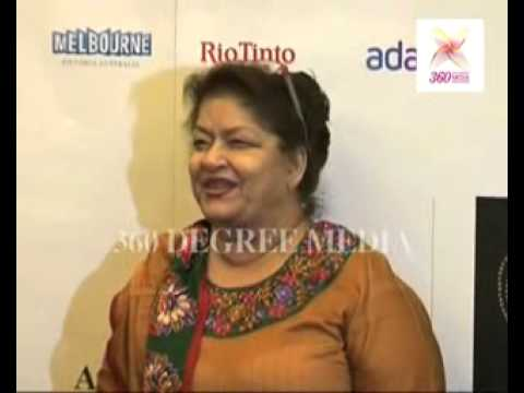Choreographer Saroj Khan arrives for the premiere of 'Fearless Nadia' at the Oz Fest