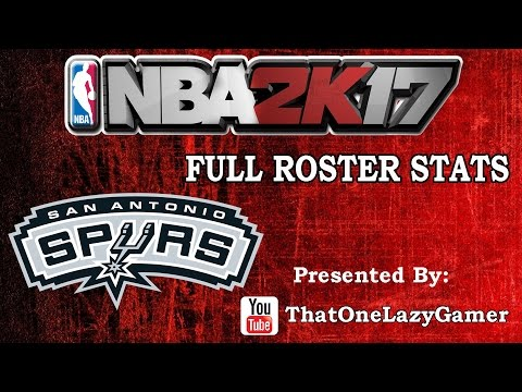 "NBA 2K17 ""San Antonio Spurs"" Full Roster stats"