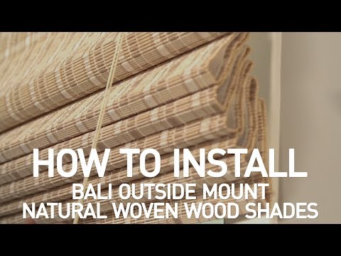 How to Install Bali® Natural Woven Wood Shades with Cord Lift - Outside Mount