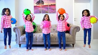 Five Little Babies Jumping on the Bed - Learning Numbers with Simple Songs