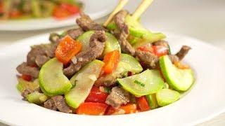 Кабачки с мясом по-китайски. Рецепт от Всегда Вкусно!
