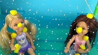 Мультик для детей Барби, Скиппер и Челси Играем с куклами игрушки для девочек