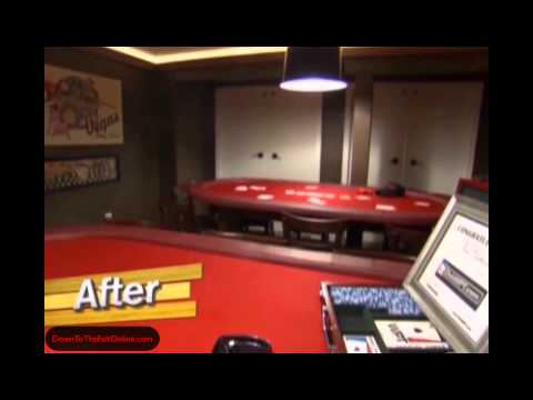 ManCave's Poker Room featuring Down to the Felt