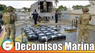 Marina decomisa más de 20 toneladas de cocaína en el Pacífico, en el último año