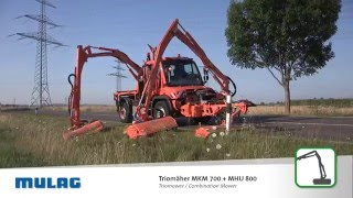 MULAG Triomäher MKM 700 MHU 800 / Triomower