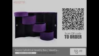 Aspire Cylindrical Jewelry Box / Jewelry Organizer For Travel From Opentip.com