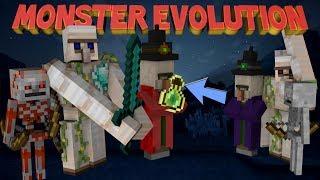 Minecraft: MONSTER EVOLUTION MOD! (Evolved Mobs mod, Mutated Mobs)