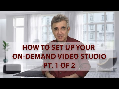 How to Set Up Your On Demand Video Home Studio Pt  1 of 2
