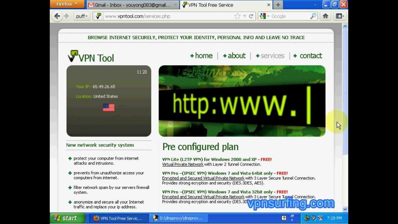 Free VPN 2012 - VPNTool Free L2TP VPN