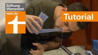 Tutorial: Nasenduschen richtig nutzen - Tipps & Test der Stiftung Warentest