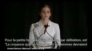 vostfr emma watson discours pour heforshe onu 20 09 2014