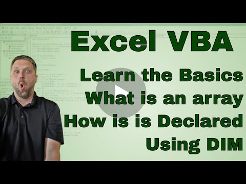 What Is An Array In Excel VBA (Dim A 1 And 2 Dimensional Array) - Code Included