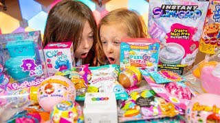 Silly Surprise Toys for Girls Blind Bags & Slime Surprise Eggs with Chloe & Emily Kinder Playtime