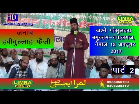 Habibullah Faizi Part 2, Nizamat Huzaif Raza 13, October 2017 Nepal HD India