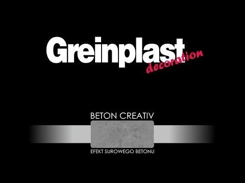 GREINPLAST BETON CREATIV, BETON ARCHITEKTONICZNY - sposób wykonania dekoracji