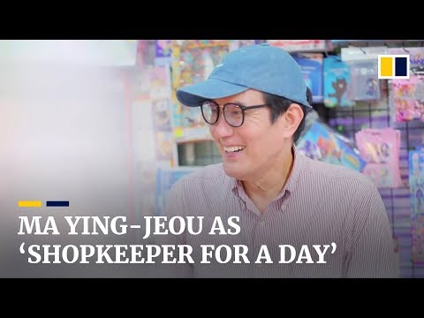 Taiwan's ex-president Ma Ying-jeou works as 'shopkeeper for a day' at bookstore