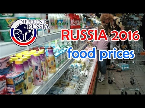 RUSSIAN FOOD PRICES 2016 🎥  Real prices in local shop on Different Russia Channel