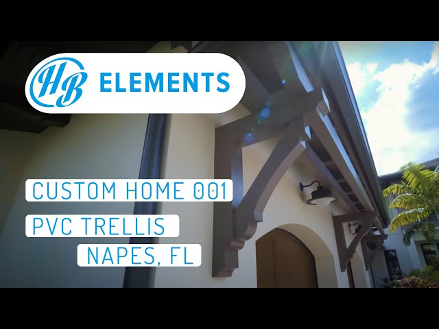 PVC Trellis | Naples Custom Home | 001