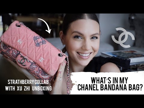 WHAT'S IN MY CHANEL BANDANA BAG + STRATHBERRY HANDBAG UNBOXING | MELSOLDERA
