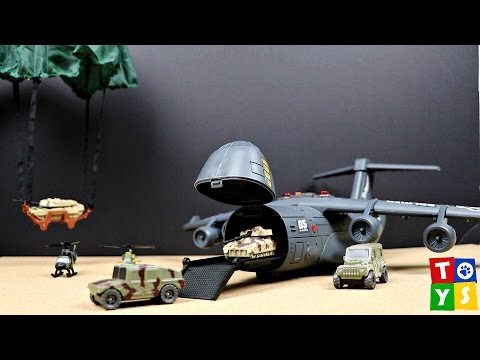 Micro Soldiers Military Airplane Tanks Soldiers Helicopter Playset