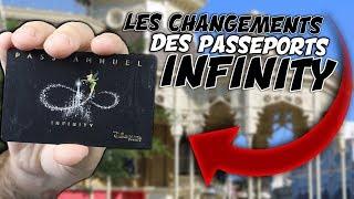 LES CHANGEMENTS DU PASSEPORT INFINITY à DISNEYLAND PARIS