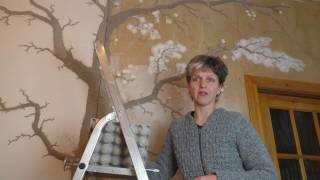 Лепнина Дерево на стене Часть 2