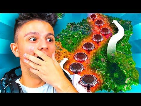 CRUZO EL MAPA SIN TOCAR EL SUELO?!! *CHALLENGE* - Fortnite