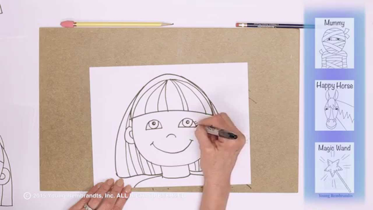 Teaching Kids How To Draw How To Draw A Cartoon Girl Face Youtube