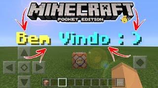 ⭐️Como Colocar letras na tela Minecraft 1.2
