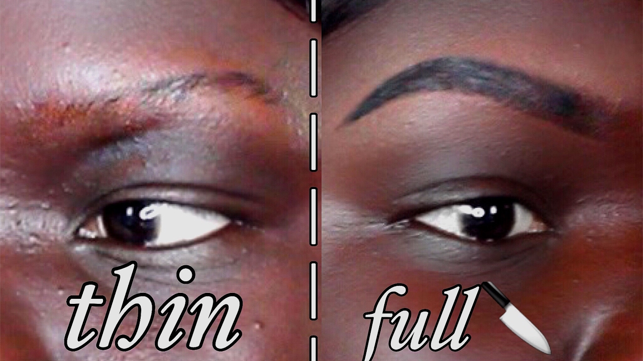 Updated Eyebrow Tutorial Brow Gel For Dark Skin Nyma Tang Youtube