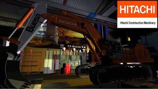 Excavatrice HITACHI EX1200 --((Tests Et Découverte))--\