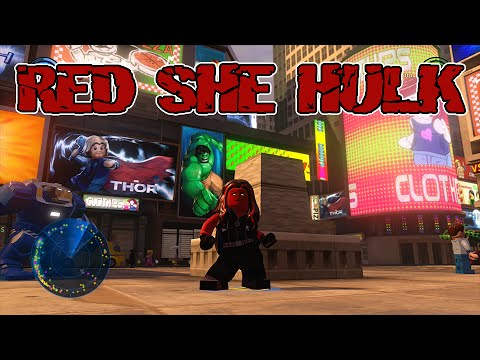 how to get red she hulk in lego avengers