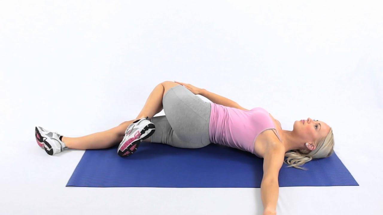 Spine Lumbar Twist Stretch Youtube