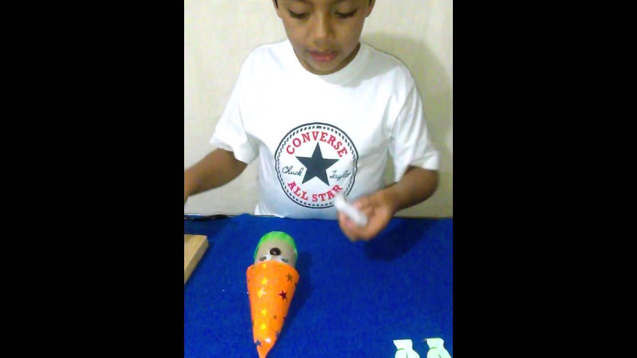 Como hacer un duende de cono de papel higienico youtube - Como hacer un cono ...