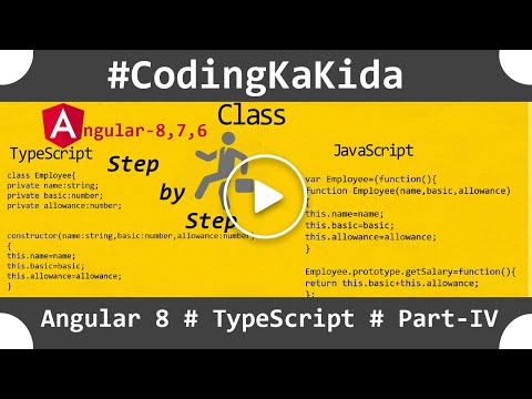 Angular 8/7 tutorial step by step |typescript in angular| angular tutorial | coding ka kida thumbnail