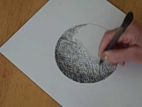 pen and ink shading a circle to a sphere youtube